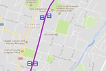 Izmaiņas sabiedriskā transporta kustības maršrutos pusmaratona norises laikā.
