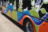 На праздничном шествии – первый электробус